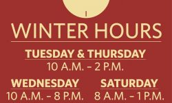 Winter Hours for The Lord's Pantry at Anna's House
