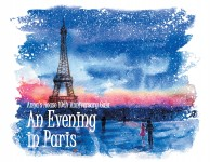 custom artwork for An Evening in Paris benefitting Anna's House celebrating it's 10th Anniversary